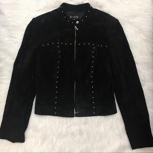 Bebe Genuine Leather Studded Jacket Coat